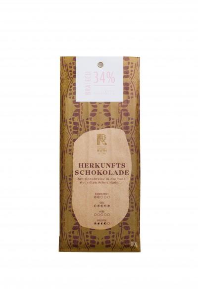 Herkunftsschokolade BRA/ECU 34%