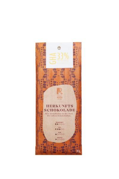Herkunftsschokolade GHA 33%